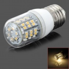 E27 3.5W 280lm 3500K 48-SMD 3528 LED Warm White Light Bulb - White (AC 110V)