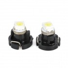 T3 0.18W 12000K 6lm 1-SMD 3528 LED Froid Blanc Lampes Instrument (DC 12V / 2 PCS)