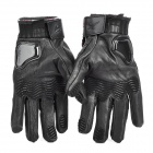 PRO-BIKER MCS-01L Goat Skin Motorcycle Racing Full-Fingers Gloves - Black (Pair / XL)