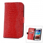 Alligator Pattern Protective Flip-Open PU Leather Case for Samsung Galaxy Note 2 N7100 - Red