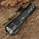 YP-9037 Cree XM-L T6 800~950lm 5-Mode White Flashlight - Black (1 x 18650 / 26650)