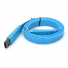 Flache USB Sync Datenkabel w / Micro USB Port für Handy / MP3 / MP4 - Blue (100cm)