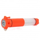 5-in-1 9-LED Car Alarm Emergency Hammer w/ Seat Belt Cutter / Flashlight - Reddish (2 x AA)