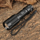 Smiling Shark SS-E7 350lm 3-Mode White Zooming Flashlight w/ Cree XM-L T6 - Black (1x18650 / 3xAAA)