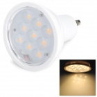 GU10 3W 180lm 3500K Warm White 9-SMD 2835 LED Light Bulb - White (85~245V)
