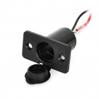 Waterproof Vehicle Cigarette Lighter Socket w/ 10A Fuse Tube - Black (12~48V)