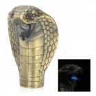 King Cobra geformt winddicht Blue Frame Butanfeuerzeug - Golden