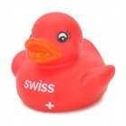 Cute Little Duck Style PVC Baby Bath Toy - Red
