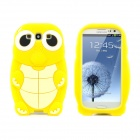 Sea Turtle Style Protective Silicone Back Case for Samsung Galaxy SIII i9300 - Yellow