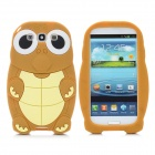 Cartoon Sea Turtle Style Protective Silicone Back Cover Case for Samsung i9300 - Coffee + Yellow