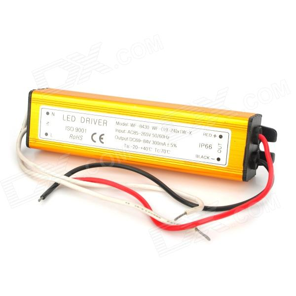 WF-8430 Waterproof 19~24 x 1W LED Constant Current Source Power Supply Driver - Golden (85~265V)