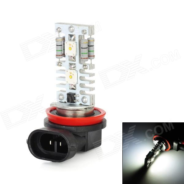 H8 12W 6500K 600lm 4-SMD 7060 LED White Fog lamp / High / Low Beam (DC 12~24V) highlight h3 12w 600lm 4 smd 7060 led white light car headlamp foglight dc 12v