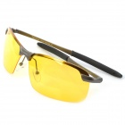 ReeDoon R3043 Professional Riding Polarized UV400 Protection Sunglasses - Yellow