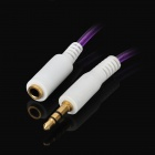 3.5mm Male to Female Extension Audio Cable - Purple + White (100cm)