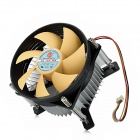A-85 Plastic 7-Blade 2200RPM CPU Cooler - Black + Yellow + Silver