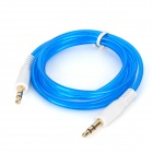 3.5mm Male to Male Audio Cable - Transparent Blue + White (100cm)