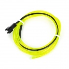 QC-01 Car Decorative Flexible EL Cold Light Strip Lamp w/ Drive - Green-Yellow (145cm)