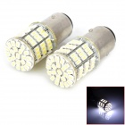 1157 12.7W 7000K 385lm 85-SMD 3528 LED White Brake Light Bulbs (DC 12V / 2 PCS)