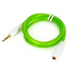 3.5mm Male to Female Silicone Extender Cable - Green + White (1m)