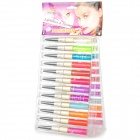 24-in-1 Fashion Moisturizing Lip Gloss + Lipliner Set - Multicolored