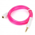 3.5mm Male to Female Audio Extension Cable - Deep Pink (100cm)