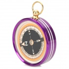 Outdoor Camping Hiking North Arrow Compass - Purple