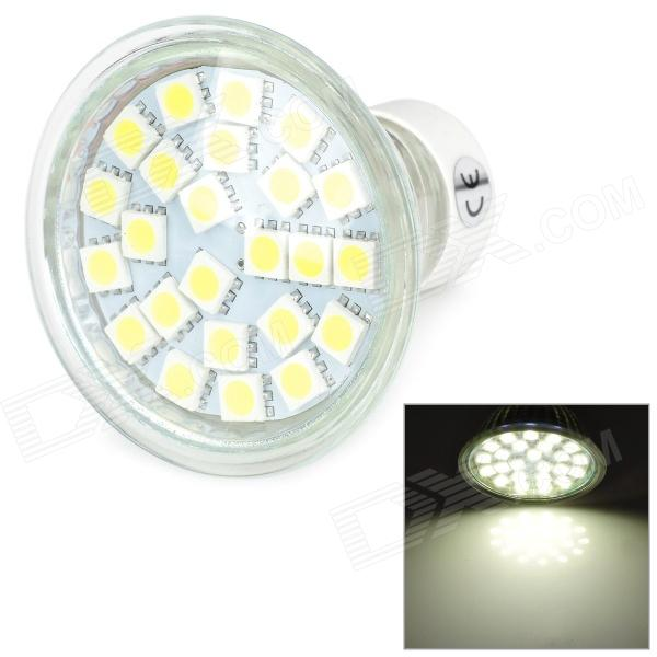GU10 3W 280lm 6500K White 24-LED Light Bulb - White (175~265V)