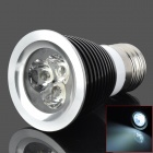 E27 3W 320lm 6500K 3-LED White Light Bulb - Black (AC 220V)