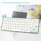 Rii ultra-fino wireless bluetooth v3.0 + HS teclado de 84 teclas para celulares android / tablets