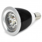 E14 3W 320lm 3500K Warm White 3-LED Spot Light - Black (220V)
