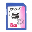 TOPRAM SDHC SD Memory Card - Blue (8GB / Class 10)