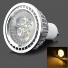 GU10 5W 420lm 3500K 5-LED Warm White Light Bulb - Silver (AC 220V)