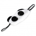 Cute Panda Eyes Cotton Sleeping Eyeshade - White + Black