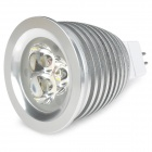 GU5.3 3W 420lm 3800K Warm White 3-LED Spot Light - Silver (12V)