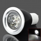 GU10 3W 320lm 6500K 3-LED White Light Bulb - Black (AC 220V)