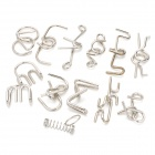 12-in-1 Intelligence Training Puzzle Rings Buckles Set - Silver