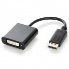 CY DP-050-BK Active Eyefinity DP DisplayPort to Single Link DVI Adapter Cable - Black