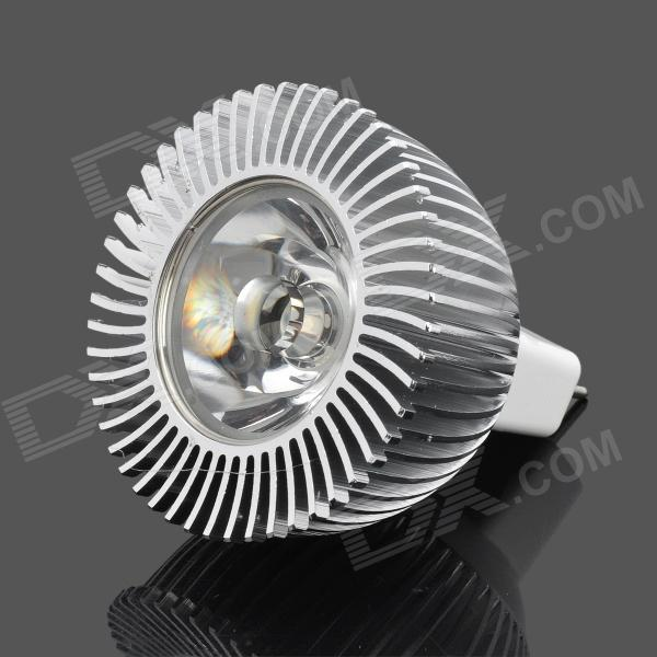 GU5.3 1W 120lm 3500K 1-LED Warm Light Bulb - Silver (DC 12V)