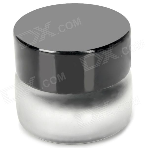Beauty Cosmetic Makeup Eyeliner Cream Grease - Black (3g) 12pcs 20g amber glass cream jars cosmetic packaging with lid black plastic caps