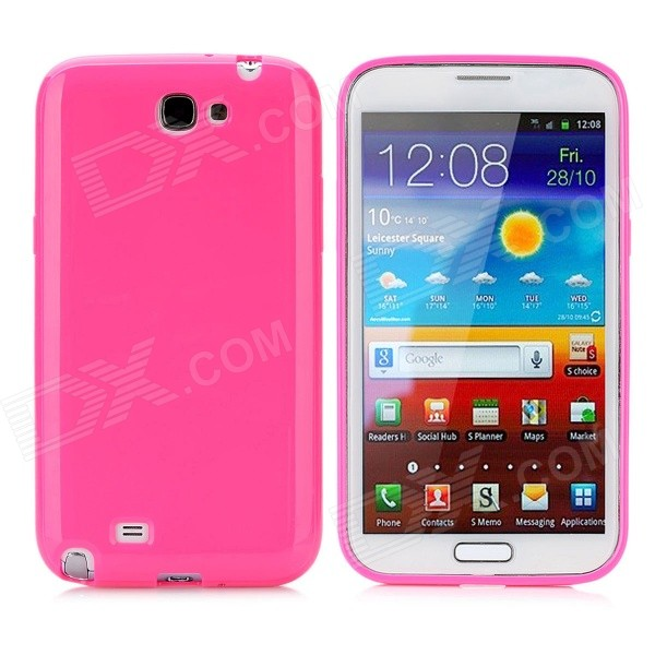 Protective Silicone Back Case for Samsung N7100 - Deep Pink
