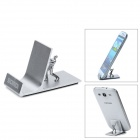 Samdi Creative Aluminum Alloy Desktop Holder Stand for Cell Phones / GPS / Tablet PC - Silver