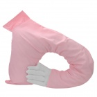 Creative Man's Arm Soft Plush Cushion Pillow - Pink + White