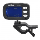 Fzone FMT-2011 2-in-1 Chromatic Beating Tuner w/ Clip for Guitar / Bass / Violin / Ukulele - Black