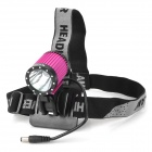 RUSTU D14 Cree XM-L T6 692lm 4-Mode Bicycle Light / Headlamp - Deep Pink + Black (2 x 18650)