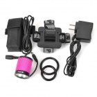 RUSTU D14 692lm 4-Mode Bicycle Light / Headlamp w/ Cree XM-L T6 - Deep Pink + Black (2 x 18650)