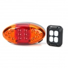 jsd-1202 4-Mode 6-LED Red Light Laser Bicycle Tail Warning Light - Black + Orange