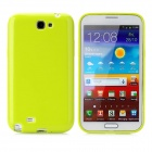 Protective Soft Silicone Back Case for Samsung N7100 - Yellow Green