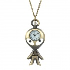 Fashion Alien Shaped Plating Iron Alloy Pocket Watch