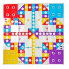 Plastic HB003A Aviones Flying Carpet Chesses Family Game - Purple + Azul + Amarillo + Rojo
