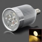 E14 5W 420lm 3800K 5-LED Warm White Light Bulb - Silver (AC 220V)